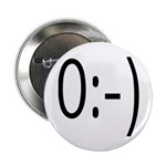 Angel Text Smiley Face Button