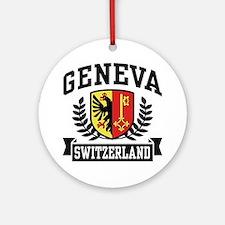 Geneva Switzerland Ornament (Round)