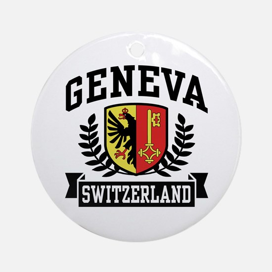 Geneva Switzerland Ornament (Round)