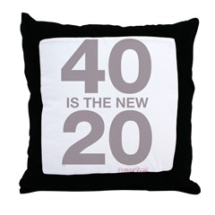 40 Is The New 20 Throw Pillow