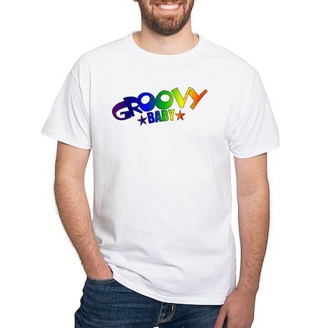 Groovy Baby Retro White T-Shirt