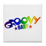 Groovy Baby Retro Tile Coaster