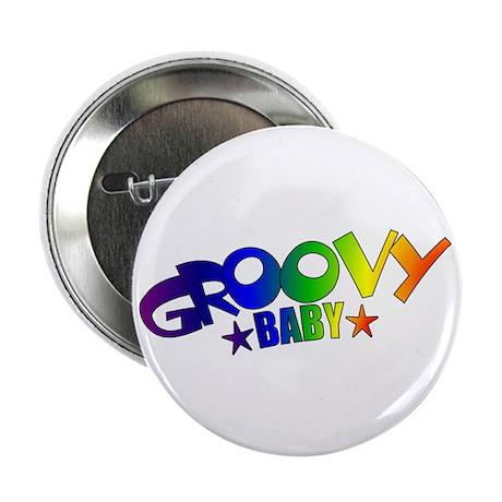 Groovy Baby Retro Button