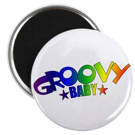 """Groovy Baby Retro 2.25"""" Magnet (10 pack)"""