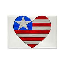 Heart Flag Rectangle Magnet (10 pack)