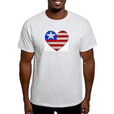 Heart Flag Ash Grey T-Shirt
