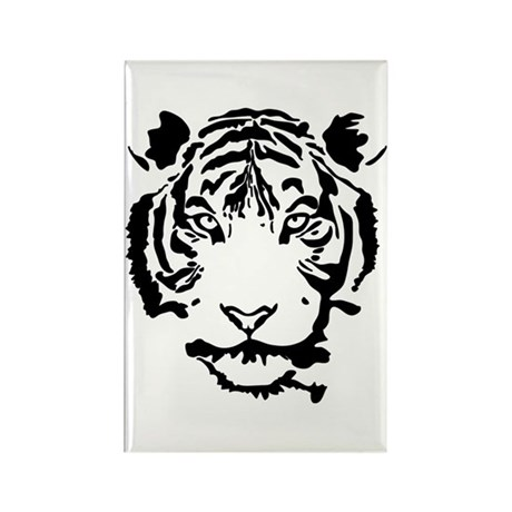 Stalking Tiger Rectangle Magnet