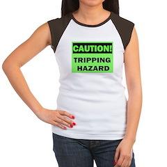 Tripping Hazard green Women's Cap Sleeve T-Shirt