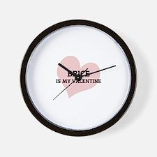 Brice Is My Valentine Wall Clock