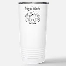 King of Alaska-black outline- Travel Mug