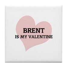 Brent Is My Valentine Tile Coaster