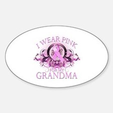 I Wear Pink for my Grandma (floral) Decal