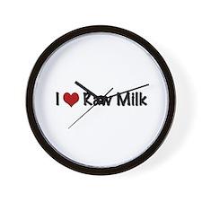 Cute I love milk Wall Clock