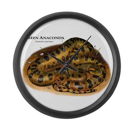Green Anaconda Large Wall Clock