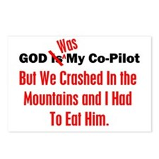 God Was My Copilot Red Postcards (Package of 8)