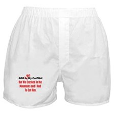 God Was My Copilot Red Boxer Shorts