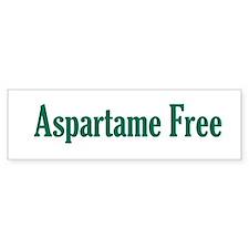 Aspartame Free -- Bumper Sticker