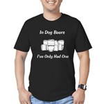Dog Beers Men's Fitted T-Shirt (dark)