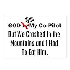 God Was My Copilot Black Postcards (Package of 8)