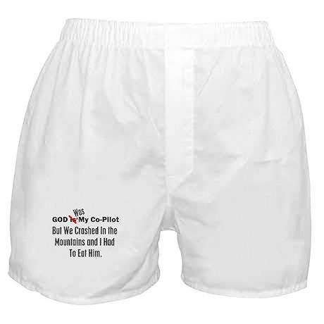 God Was My Copilot Black Boxer Shorts