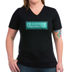 Oceanside Women's V-Neck Dark T-Shirt