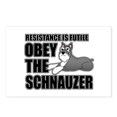 Obey The Schnauzer Postcards (Package of 8)