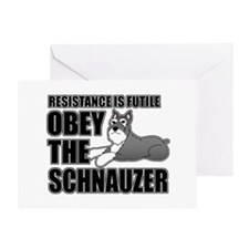 Obey The Schnauzer Greeting Card