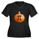 Pumpkin Pie Women's Plus Size V-Neck Dark T-Shirt