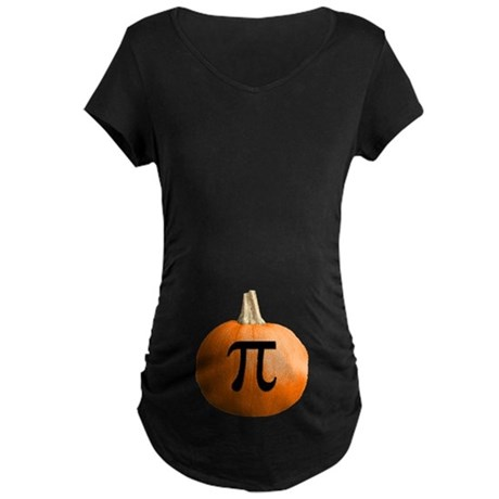 Pumpkin Pie Maternity Dark T-Shirt