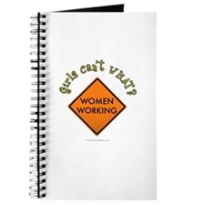 Women Working Sign Journal