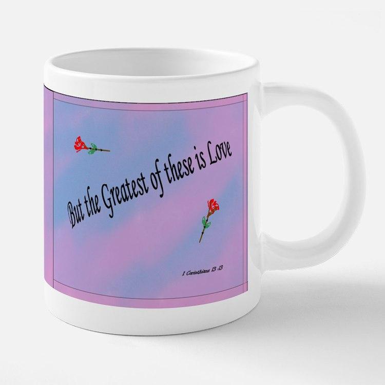 Love is 20 oz Ceramic Mega Mug