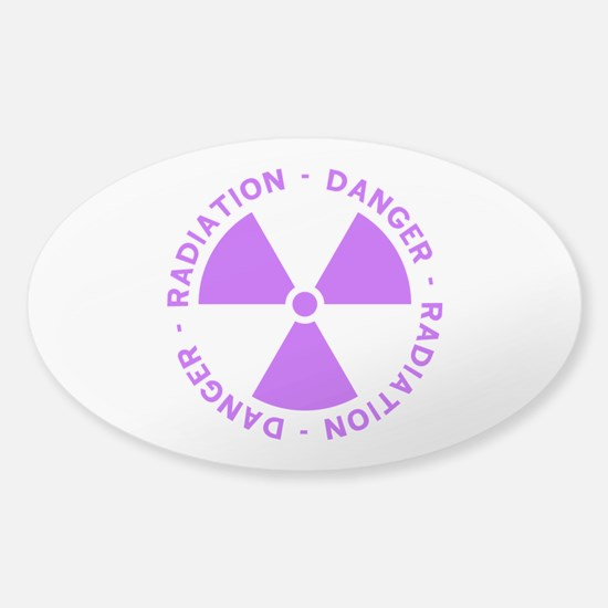 Purple Radiation Symbol Sticker (Oval)