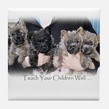 """Teach Your Children Well"" Tile Coaster"