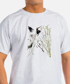 One Crane In Bamboo T-Shirt