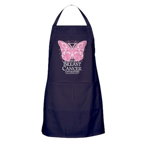 Breast Cancer Butterfly 3 Apron (dark)