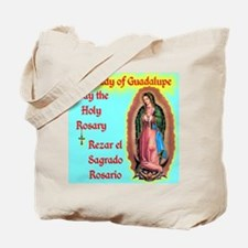 Pray the Rosary - Cotton Tote Bag Our Lady of Gua