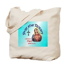 Pray the Rosary - Cotton Tote Bag (b)