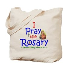 Pray the Rosary - Cotton Tote Bag (a)