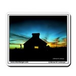 Barn, Sunset, Mahaska County, Iowa, Mousepad