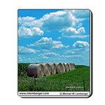 Farming, Round Bales, Clouds, Sky, Mousepad