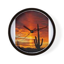 Saquaro Sunset Wall Clock