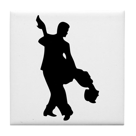 Couple Silhoutte Tile Coaster