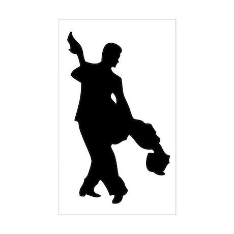 Couple Silhoutte Sticker (Rectangle)