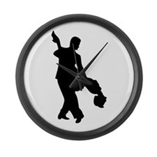 Couple Silhoutte Large Wall Clock