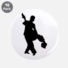 "Couple Silhoutte 3.5"" Button (10 pack)"