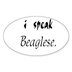 Speaking Beagle Decal