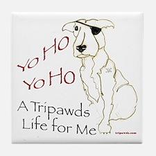 A Tripawds Life Tile Coaster