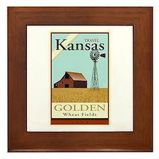 Travel Kansas Framed Tile