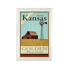 Travel Kansas Rectangle Magnet