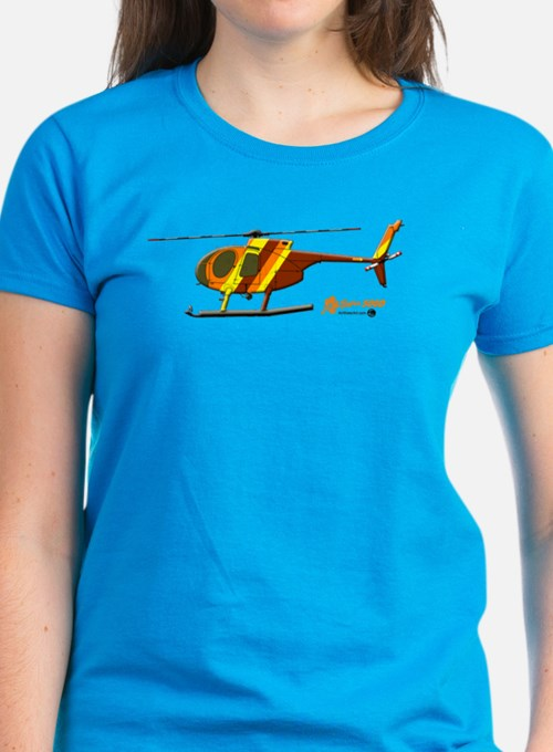Hughes 500D Helicopter. Tee